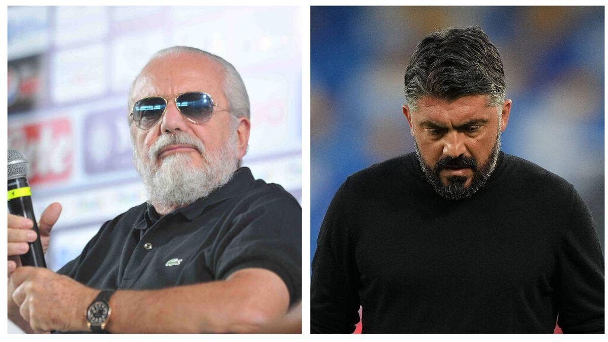 El Nápoles no se clasifica para la Champions y su presidente, De Laurentiis despide a Gattuso por Twitter