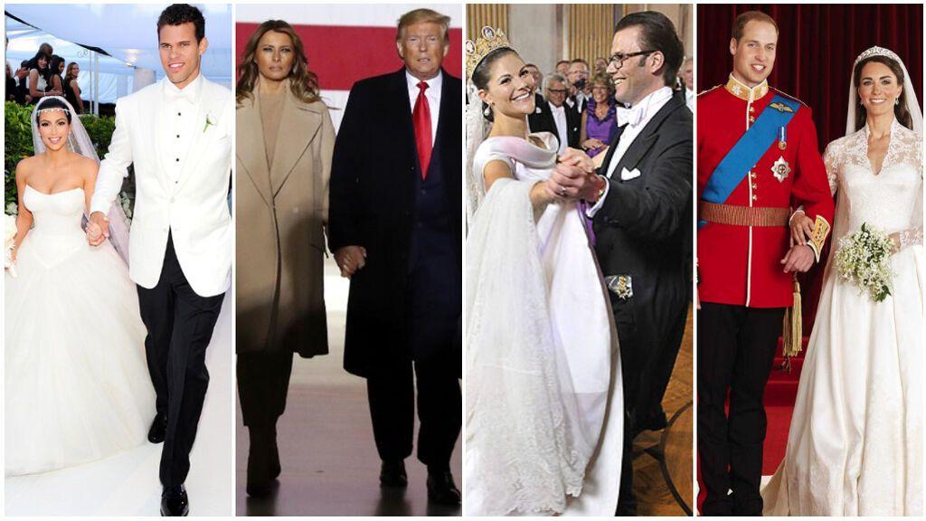 Estas han sido las bodas más caras de nuestros famsoso: desde el enlace de Kim Kardashian o Donald Trump hasta el 'sí, quiero' de los royals europeos.