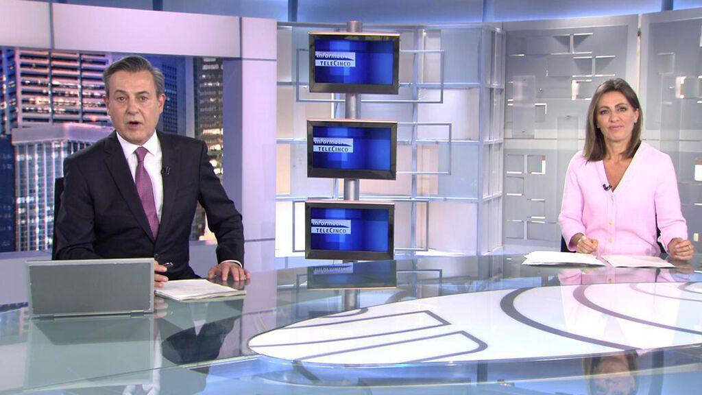 Con José Ribagorda y Ángeles Blanco Informativos Telecinco 2021 Noche 23/05/2021