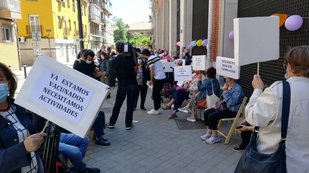Protesta de mayores en Madrid