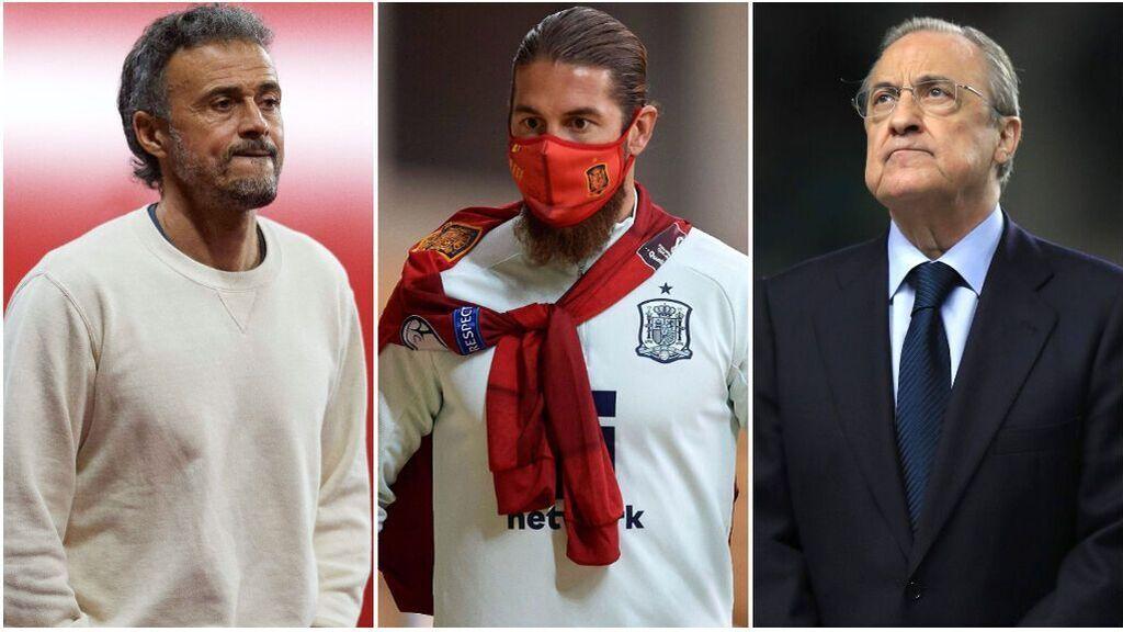 Sergio Ramos, molesto con la decisión de Luis Enrique