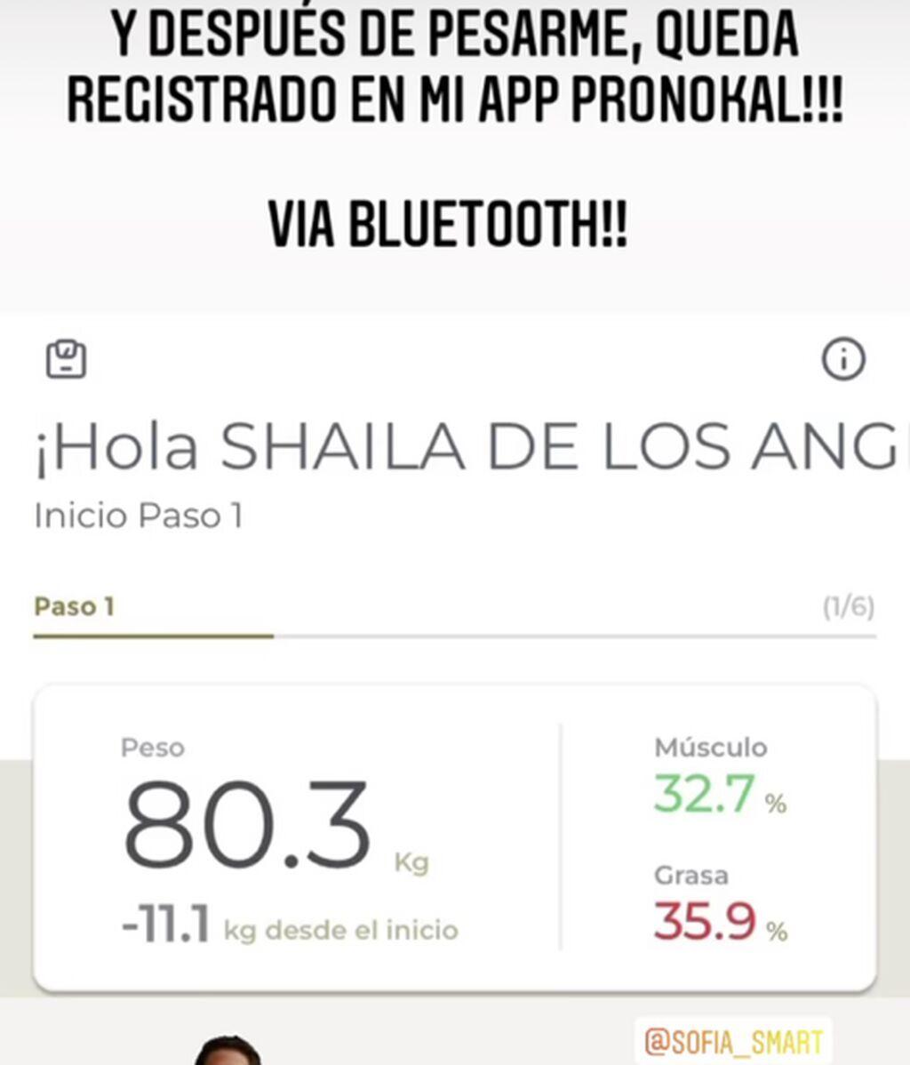 Shaila Dúrcal ha perdido once kilos