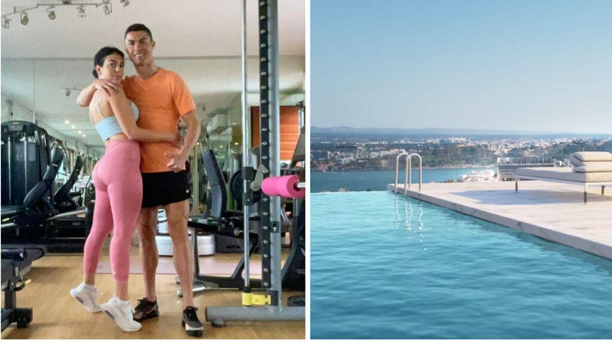 Las vacaciones 'más austeras' de Cristiano y Georgina: no se moverán de su nueva mansión en Lisboa, la más cara de todo Portugal