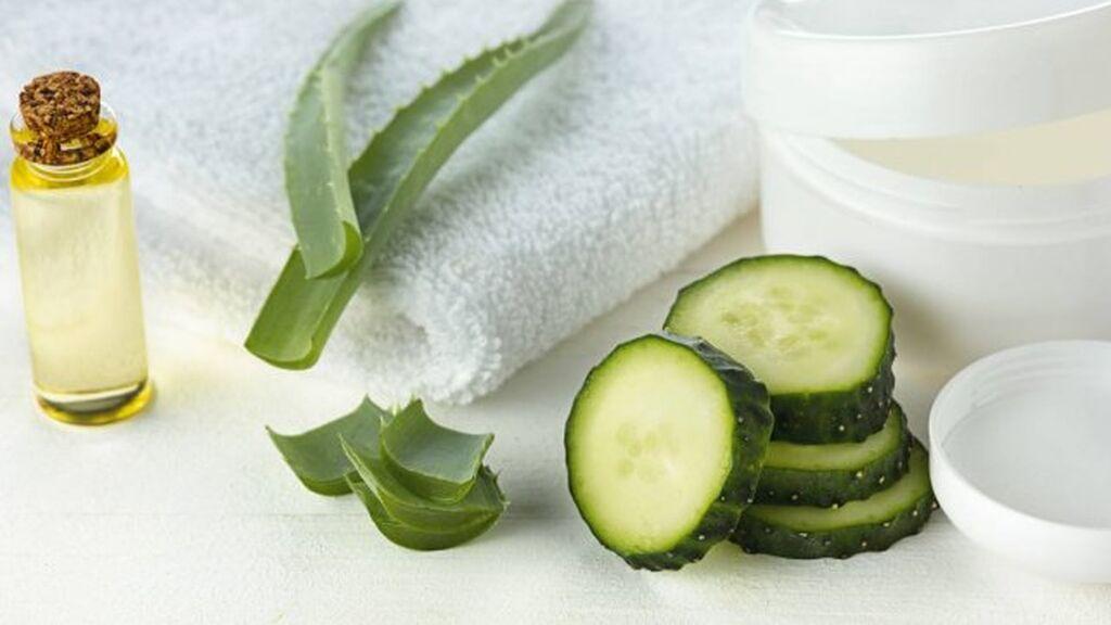 La crema se podrá realizar con aloe vera y pepino.