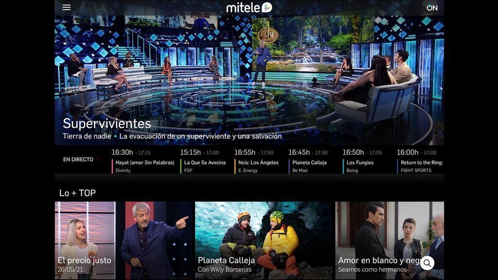 Mitele incrementa un 41% su consumo en abril y se sitúa como la plataforma de televisión más vista