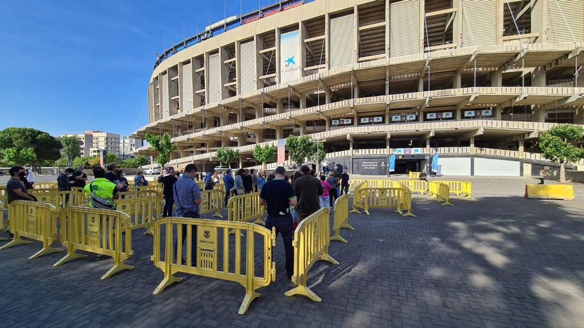 Cataluña estrena el Camp Nou como punto de vacunación contra la covid