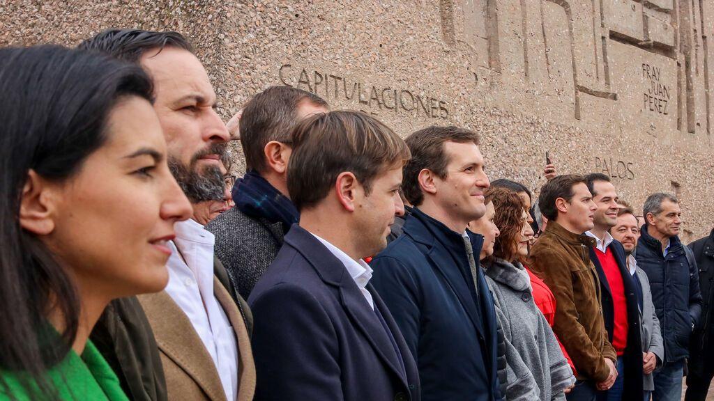 El PP se manifiesta con Vox y C's en Colón en 2019