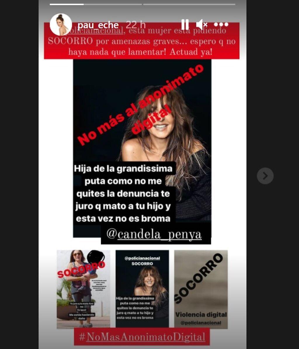 Mensaje de apoyo de Paula Echevarría tras la denuncia de Candela Peña