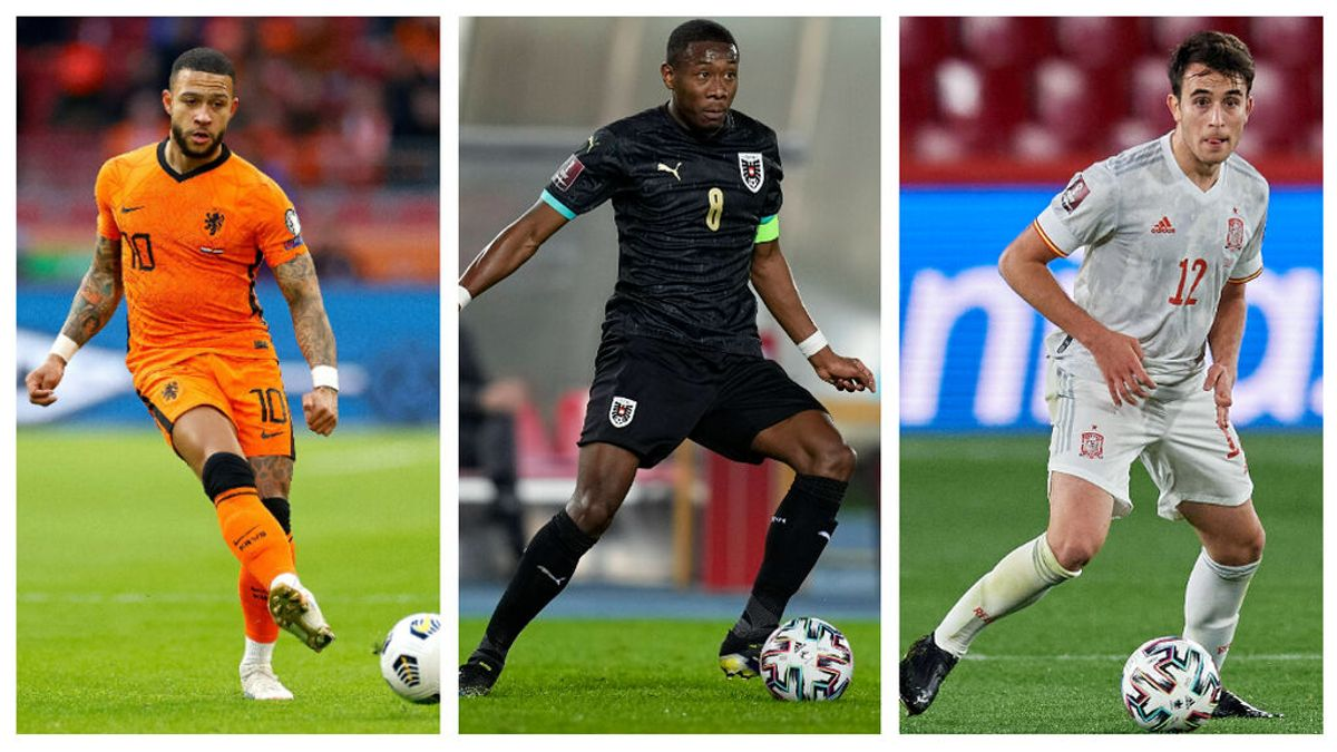 El once ideal de jugadores que jugarán la Eurocopa sin resolver su futuro: de Eric García, a Depay