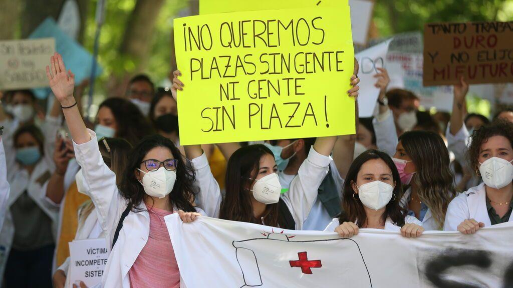 Manifestaciones en protesta del sistema de adjudicación de plazas para el MIR este año