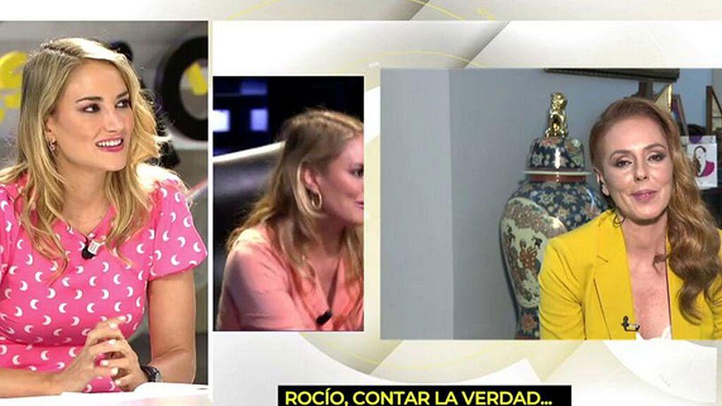 """Alba Carrillo, ante su pregunta sobre una posible maternidad a Rocío Carrasco: """"Fidel es súper niñero"""""""
