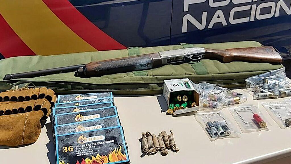 El arma utilizada contra la policía