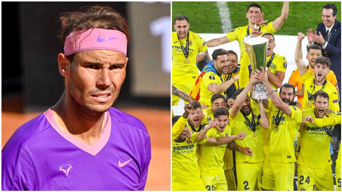 Rafa Nadal felicitó al Villarreal por la Europa League.