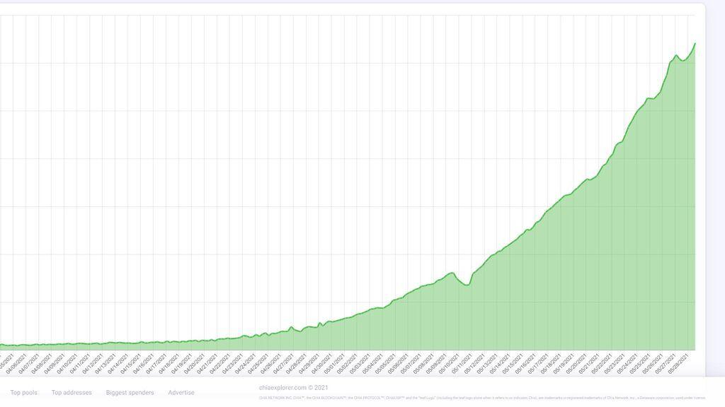 El volumen de terabytes dedicados a cultivar 'Chia' se ha triplicado en dos semanas