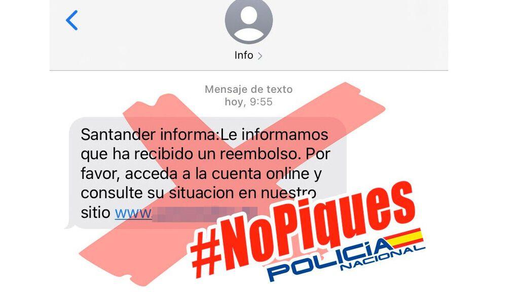 Los usuarios de Banco Santander, víctimas de una nueva estafa de phishing