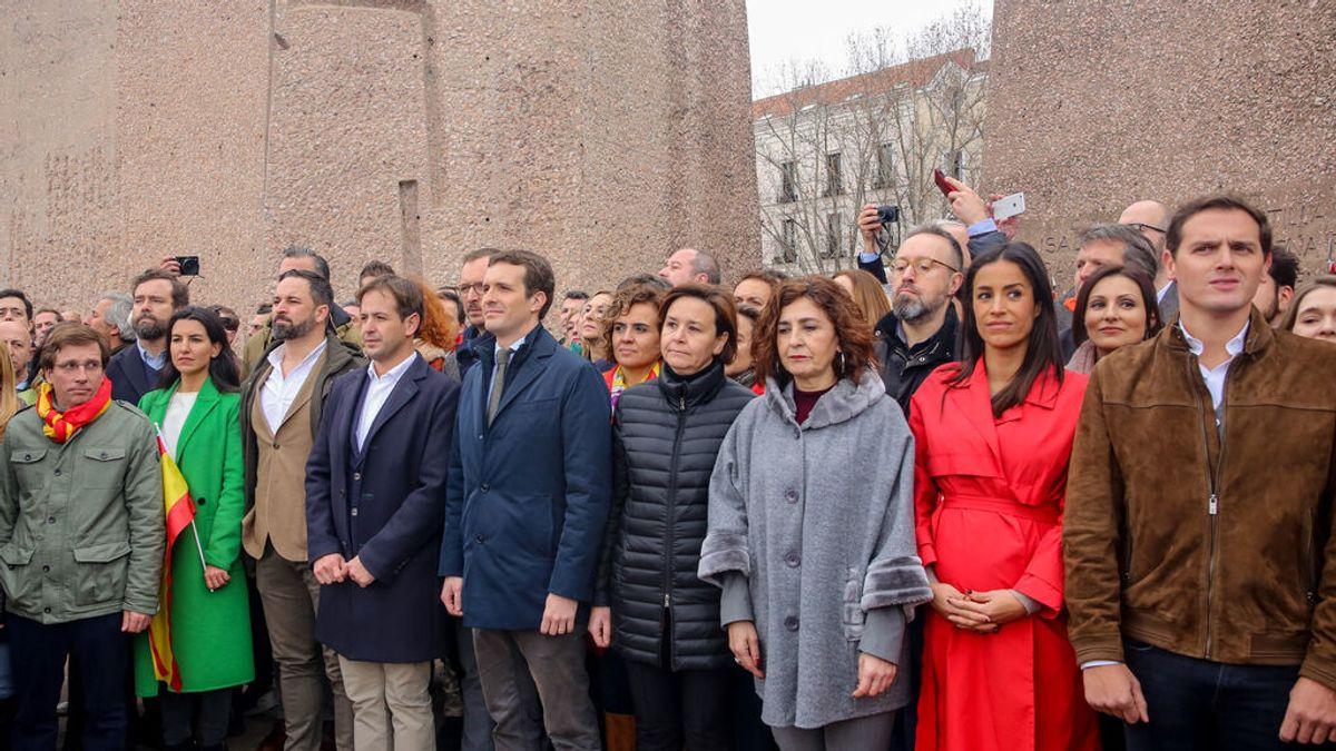 Casado, Abascal y Rivera en la primera 'foto de Colón' de 2019