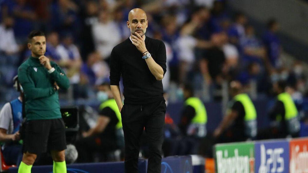 Guardiola sigue sin poder romper el maleficio de la Champions desde que salió del Barça