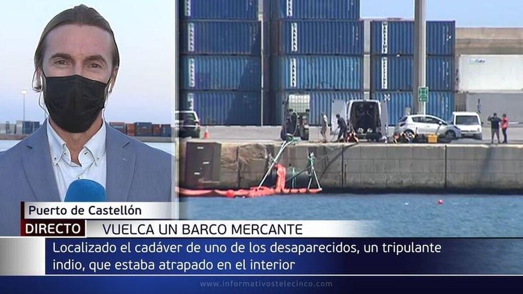 Encuentran muerto a uno de los hombres desaparecidos tras volcar un barco en el puerto de Castellón