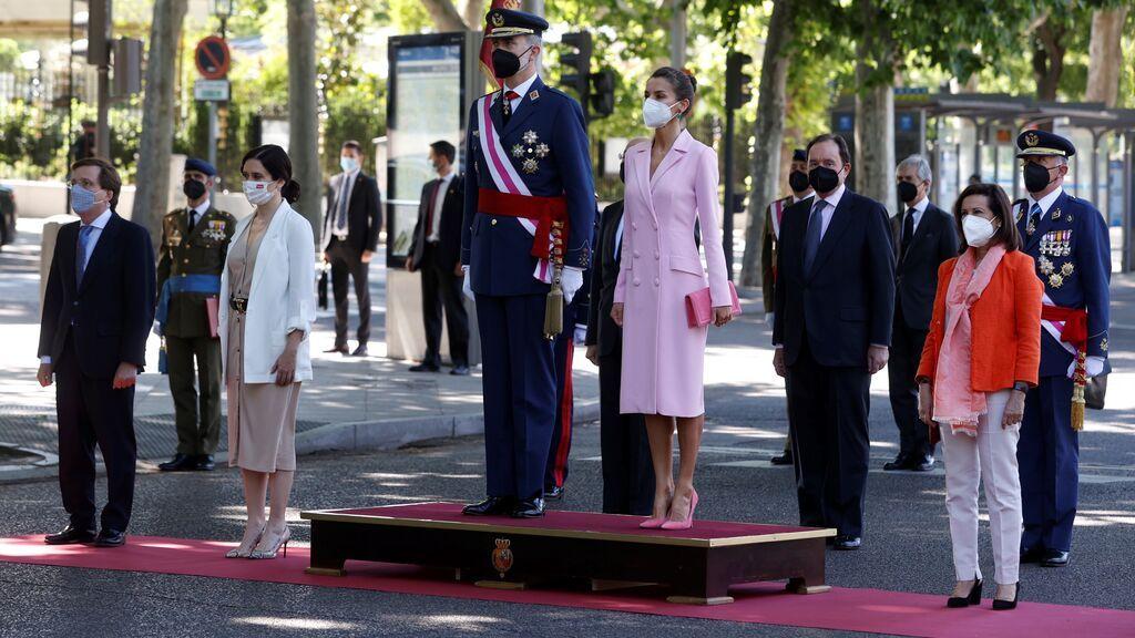 Los Reyes presiden el Día de las Fuerzas Armadas en formato reducido por la pandemia
