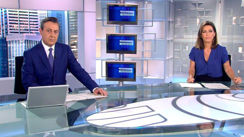 Con José Ribagorda y Ángeles Blanco Informativos Telecinco 2021 Mediodía 30/05/2021