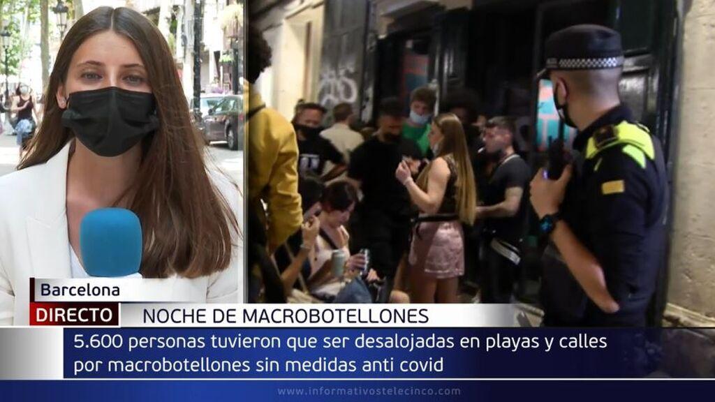 Siguen las aglomeraciones en Barcelona: desalojadas 5.595 personas en la madrugada de este domingo