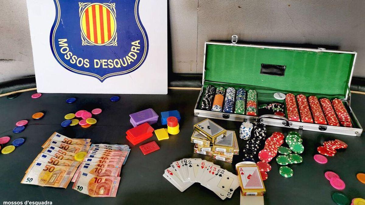 Mossos desmantelan una partida ilegal de poker
