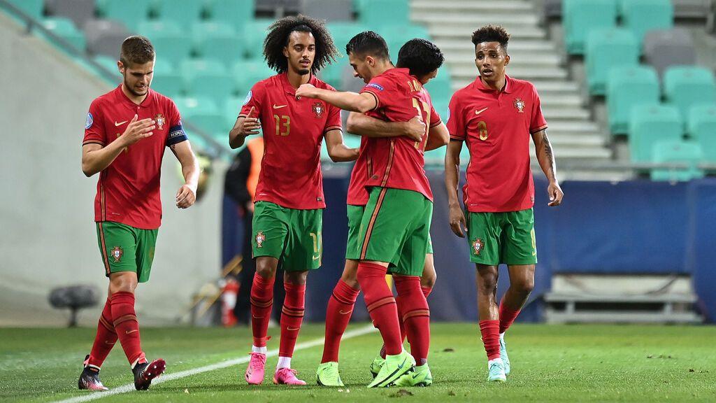 Doblete de Dani Mota que pone el 2-0 para Portugal en los cuartos de final Sub-21