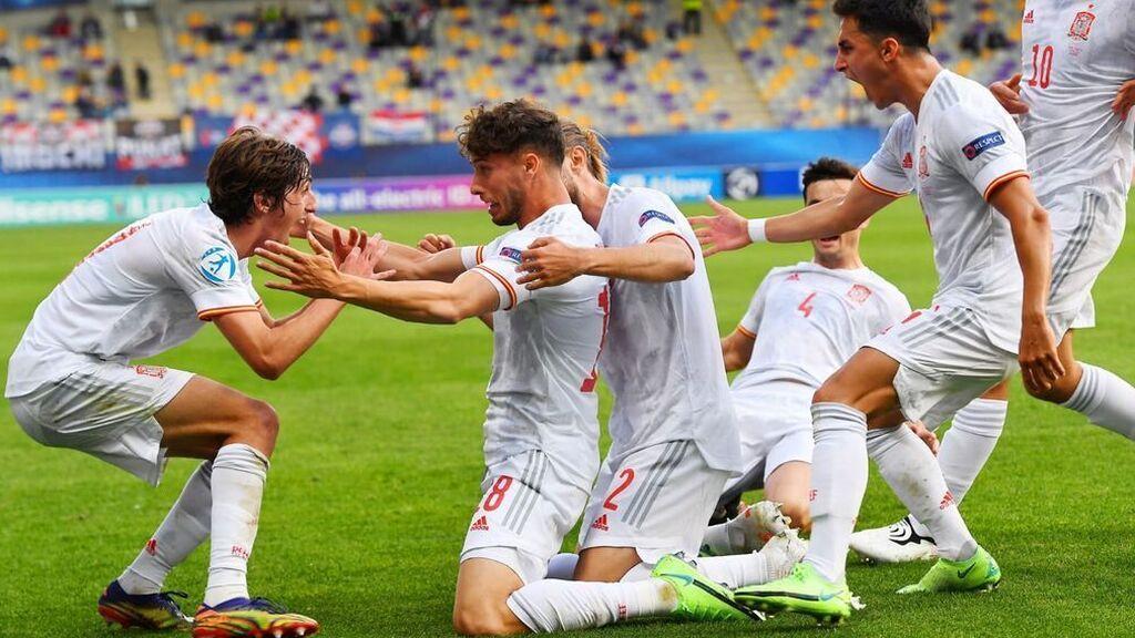 Javi Puado se viste de héroe ante Croacia y lleva a España a las semifinales del Europeo Sub21 (2-1)