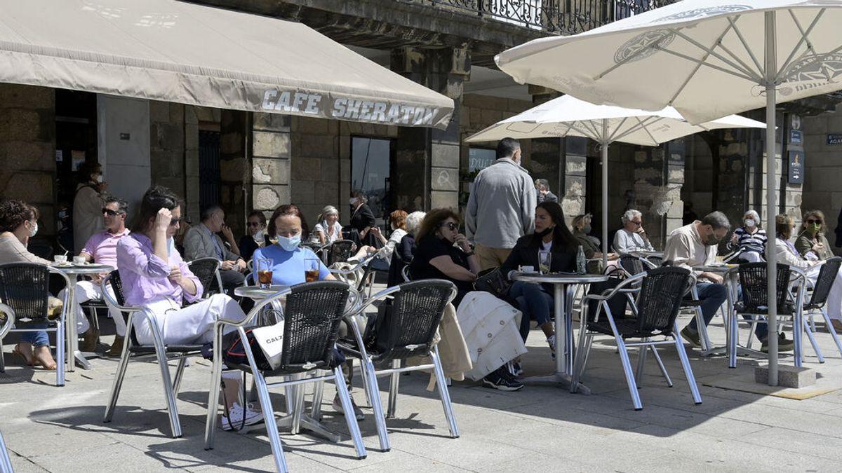 Terraza de cafetería en A Coruña