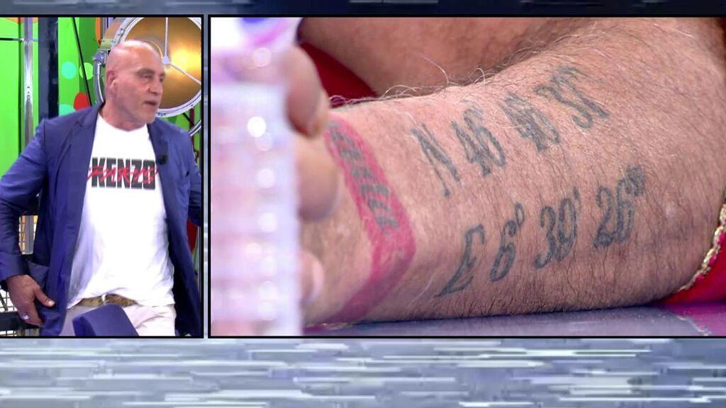 El misterio del tatuaje de Kiko Matamoros: Frigenti averigua el lugar al que pertenecen realmente las coordenadas