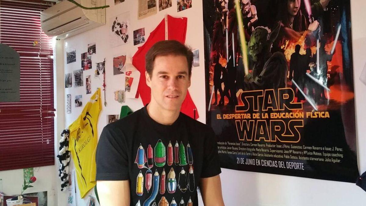 """Isaac Pérez, el profe de Educación Física que motiva a sus alumnos con Netflix y HBO: """"La ficción tiene un gran potencial"""""""
