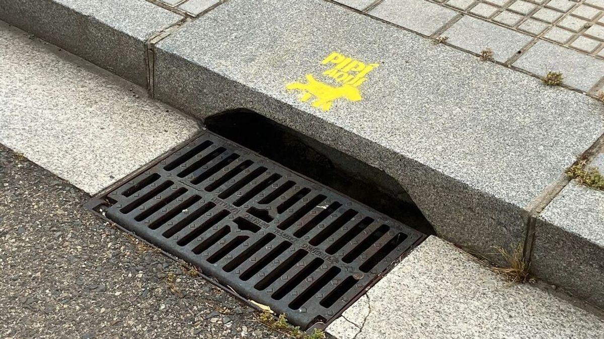 """""""Pipícan, aquí"""", el mensaje en las alcantarillas de Córdoba para mantener las calles limpias"""