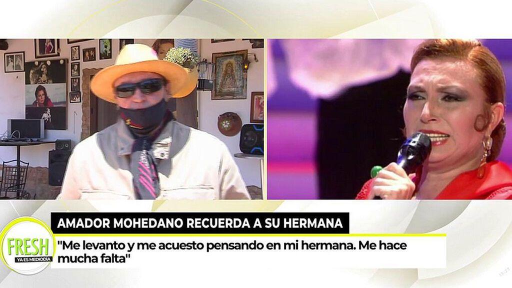 """Amador Mohedano, roto en el aniversario de la muerte de Rocío Jurado: """"Me hace mucha falta"""""""
