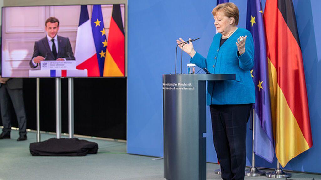 Merkel y Macron defienden las sanciones contra Lukashenko