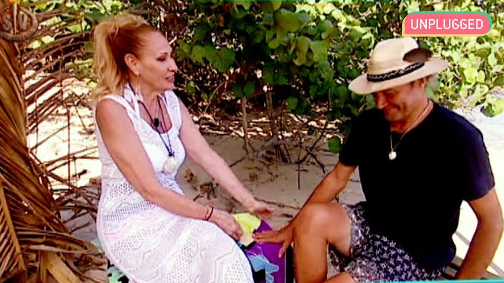 Rosa Benito y Amador Mohedano en 'Supervivientes'