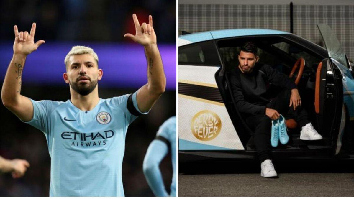 El gran gesto del Kun Agüero con los utilleros del Manchester City: relojes de lujo para todos y sorteo de uno de sus coches