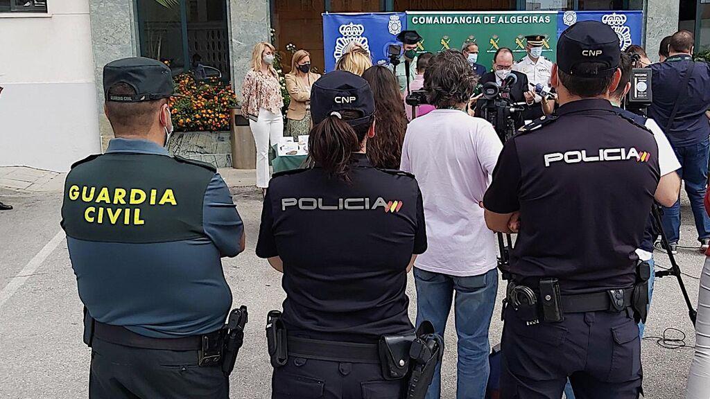 Guardia Civil y Policía Nacional presentan la operación