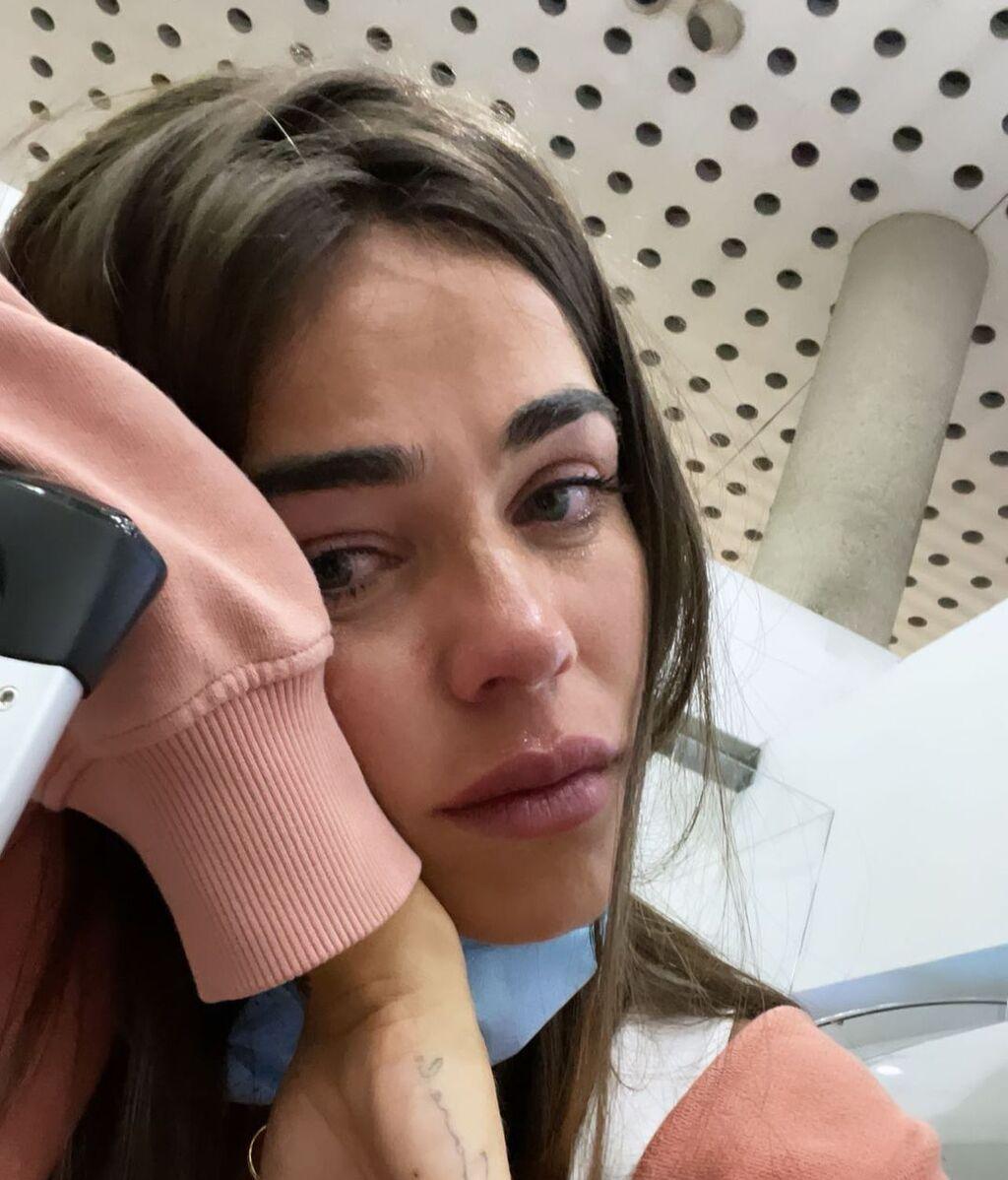 Violeta en el aeropuerto de México