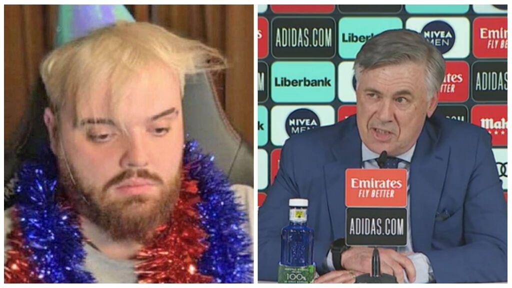 """Ibai Llanos hace de adivino y da su premonición de cómo será el Real Madrid de Ancelotti: """"Sin Mbappé ni Halaand pero con Bale y Coentrao"""""""
