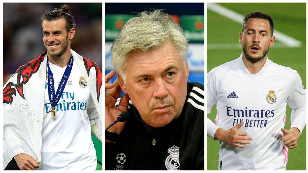 Ancelotti sienta las bases de su nuevo Real Madrid: confía en Bale y Hazard, se 'olvida' de Asensio y no pide fichajes a Florentino