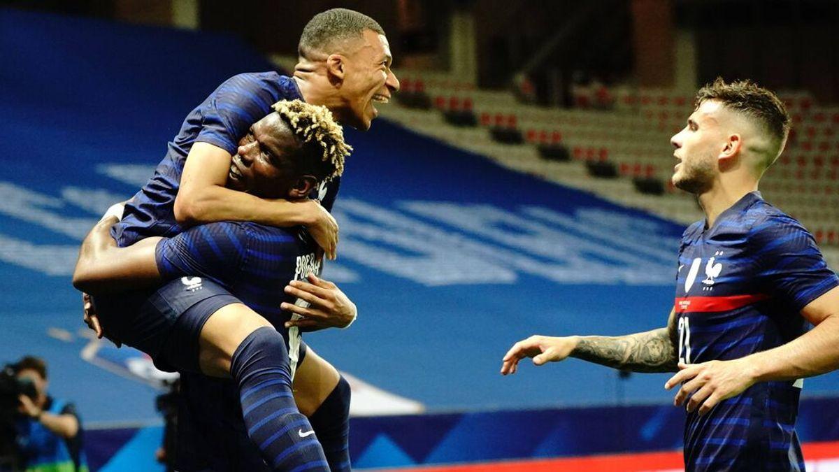 Mbappé abrió el marcador ante Gales.