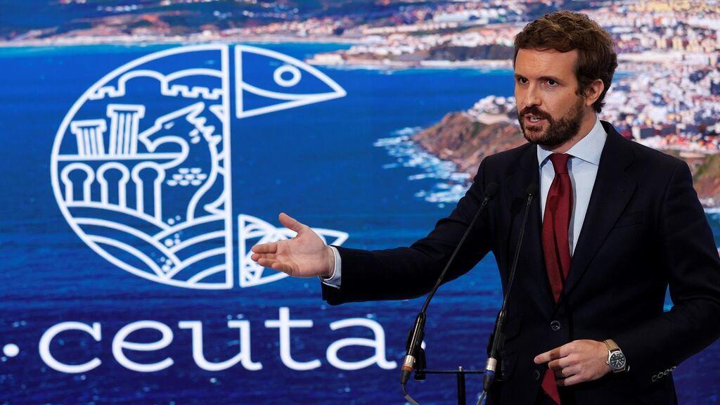 Casado viaja a Ceuta mañana en pleno agravamiento de la crisis diplomática con Marruecos
