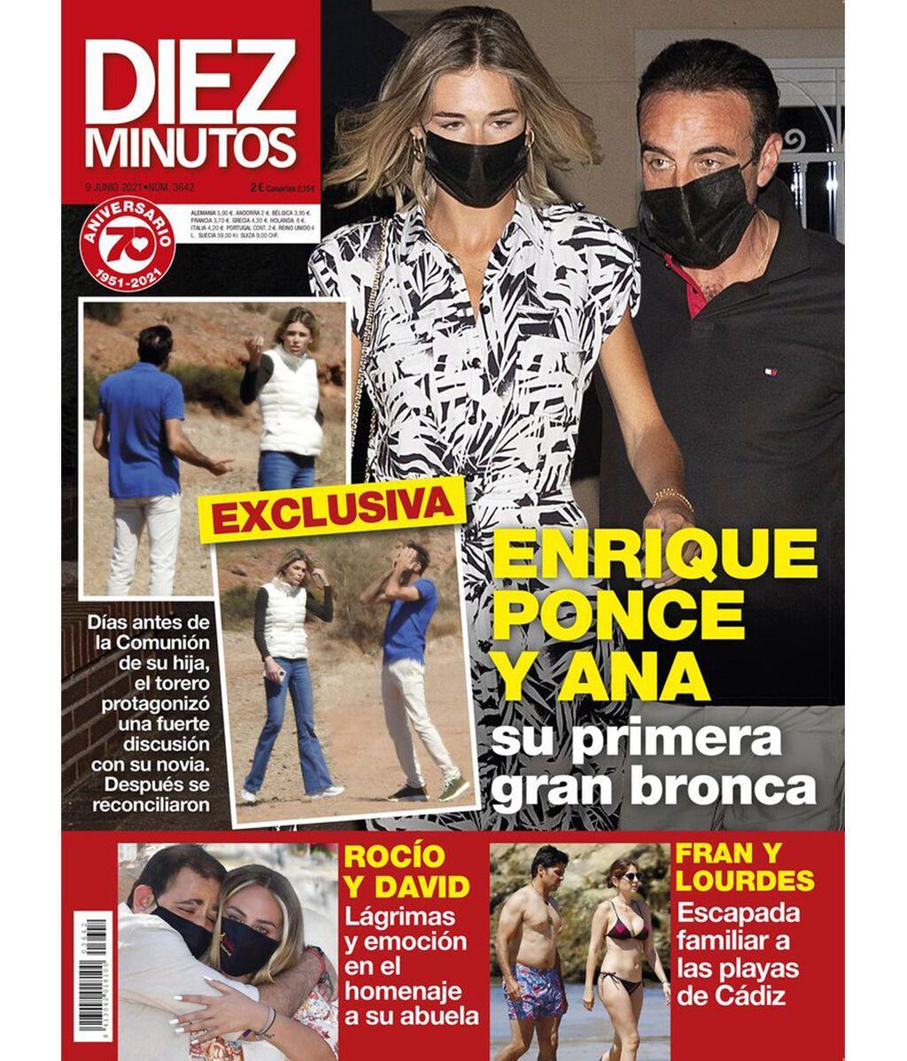Enrique Ponce y Ana Soria protagonizan una fuerte bronca en plena calle