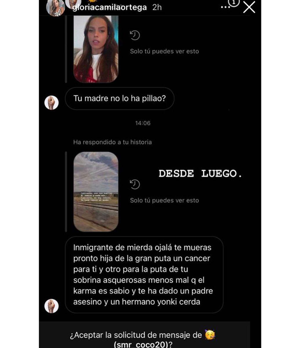 El mensaje por el que Gloria Camila ha acudido a la comisaría