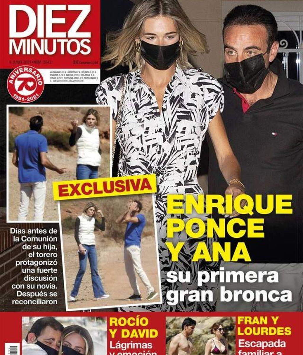 Enrique Ponce y Ana Soria, su primera bronca pública