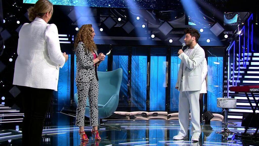 Blas Cantó recibe a Rocío Carrasco con 'Como una ola'