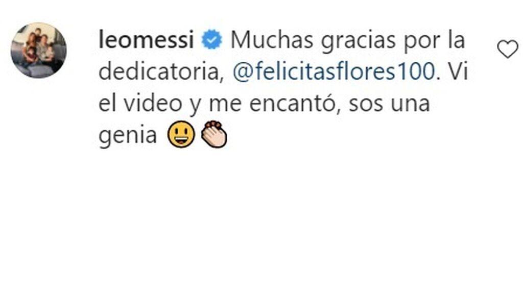 """Una niña le dedica a Messi una 'clase de malabares' con la pelota y el argentino alucina: """"Eres una genia"""""""