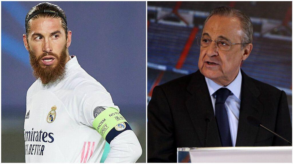 Sergio Ramos y Florentino Pérez siguen sin un acuerdo de renovación.