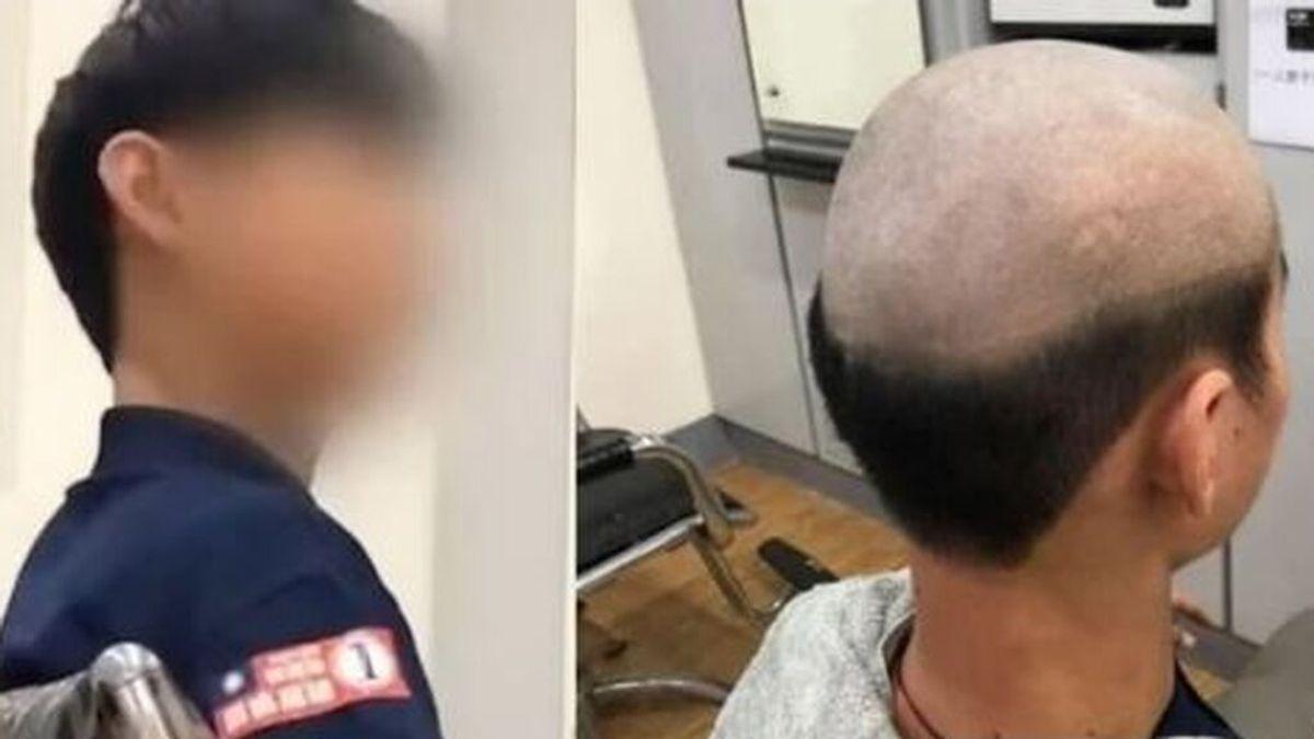 El corte de pelo anticovid ideado por una madre para que su hijo cumpla el confinamiento en Taiwán