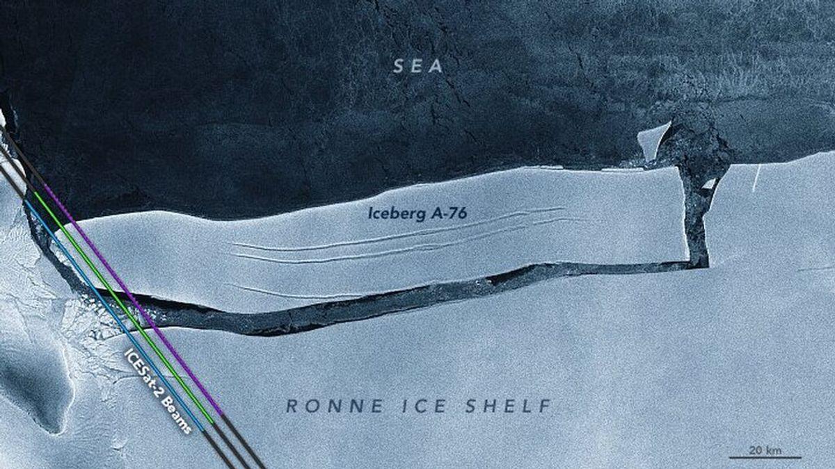 El iceberg más grande del mundo se parte en tres y pierde el título
